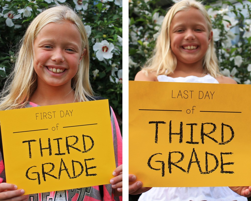 Back-to-School Signs, First and Last Day Comparison