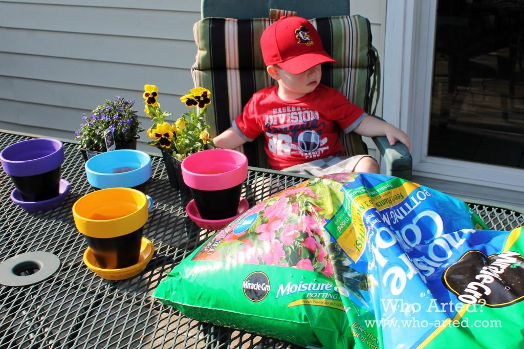 Chalkboard Flower Pots 05
