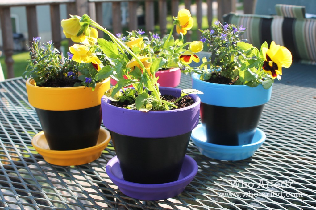 Chalkboard Flower Pots 06