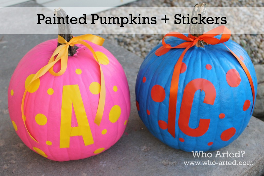 Paint and Stickers Pumpkin 05