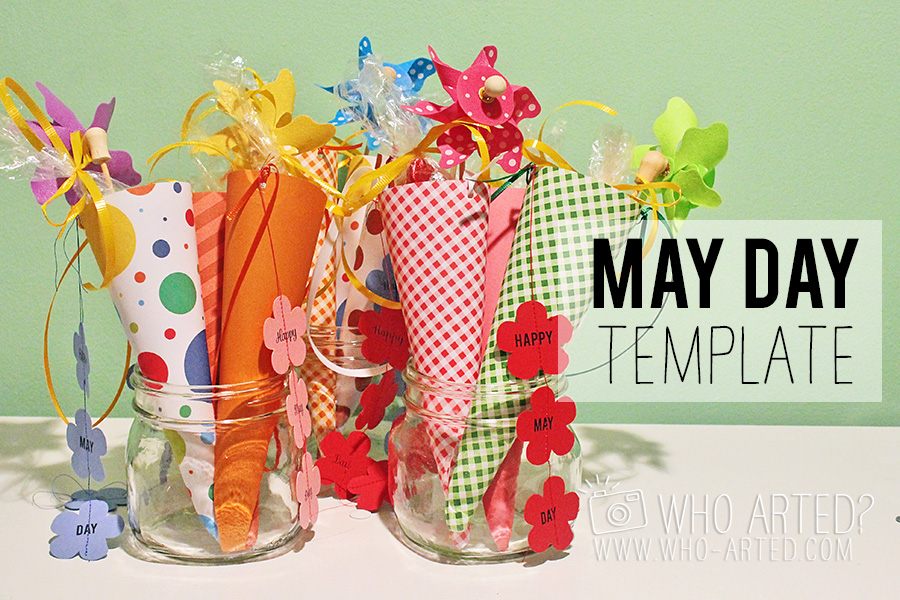 May Day Cone Template Who Arted 00