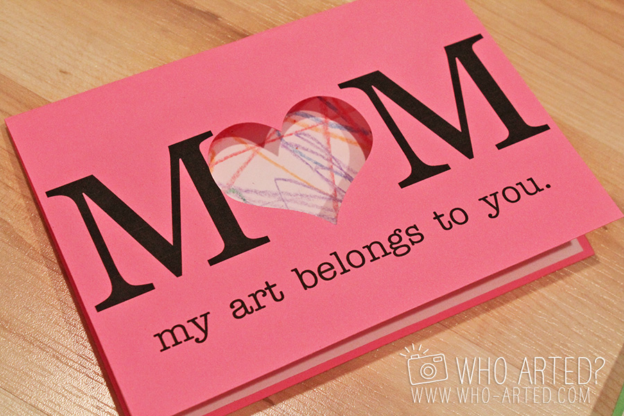 Mothers Day Card Who Arted 07