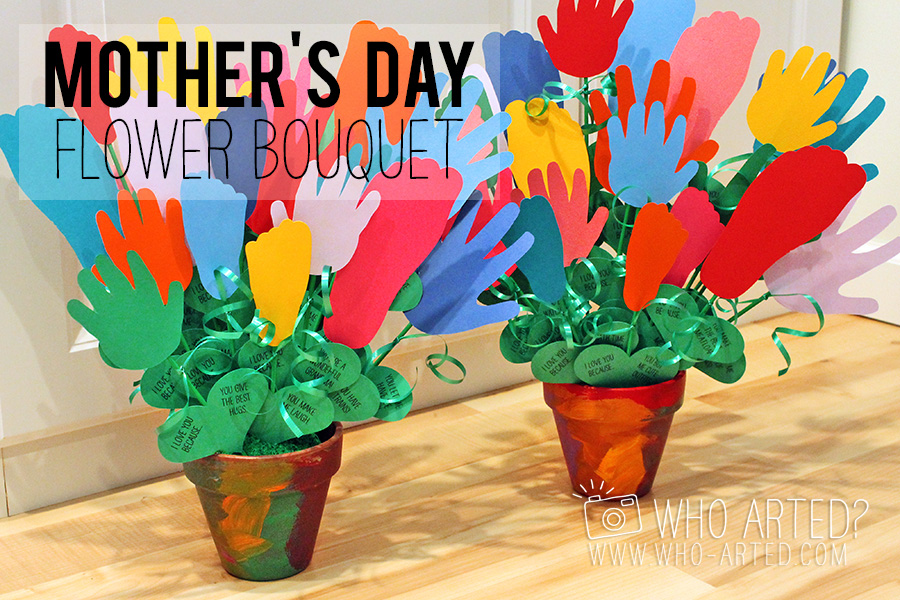 Mother's Day Flowers Handprint Footprint Who Arted 00