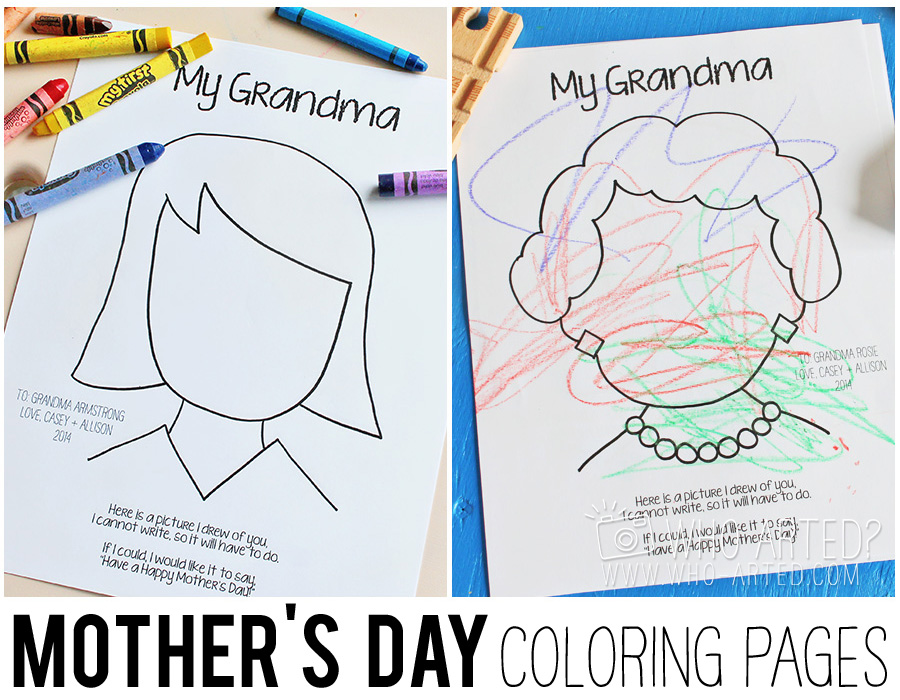 Mother's Day Coloring Page Who Arted 00