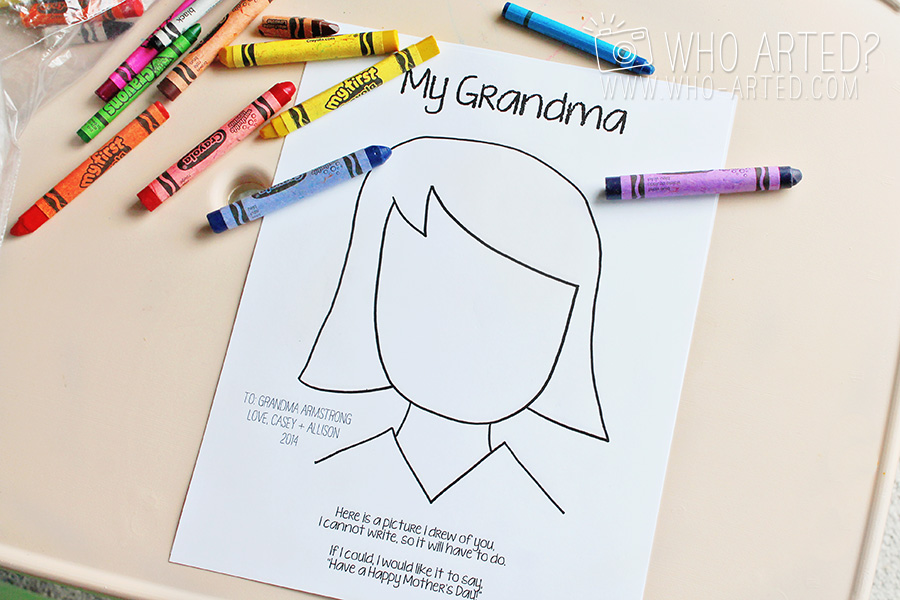 Mother's Day Coloring Page Who Arted 05