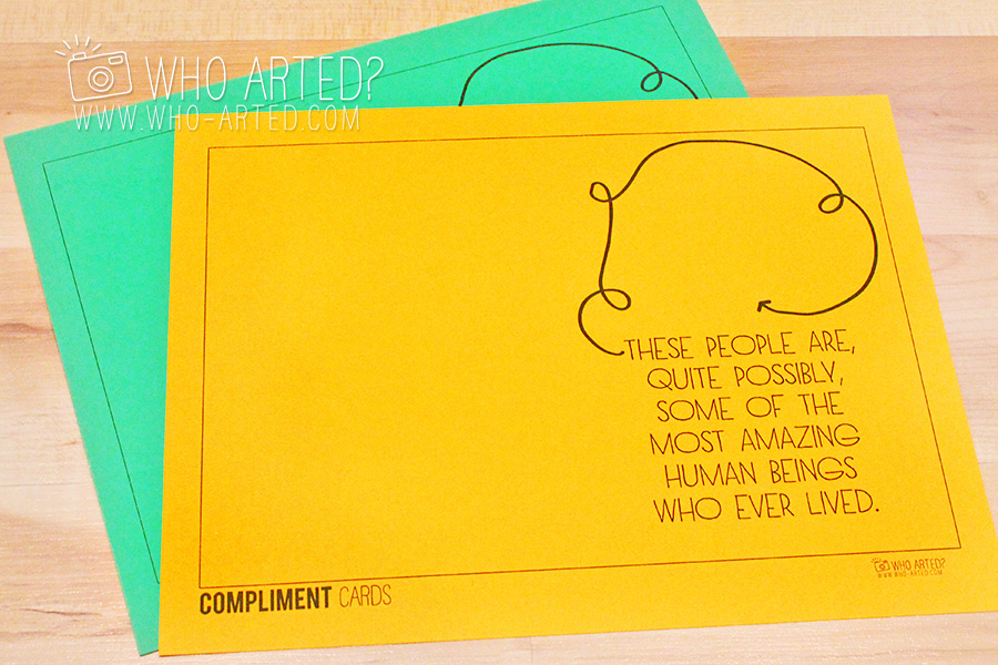 Say Something Nice Day Compliment Cards Who Arted 01