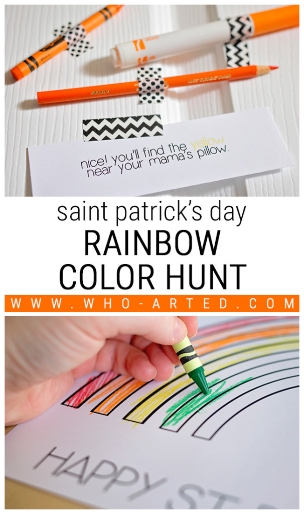 Saint Patrick's Day Rainbow Color Hunt
