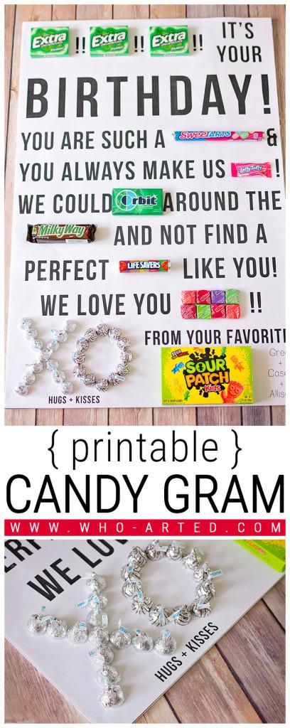 Candy Gram Birthday Card 2 00 - Pinterest 01