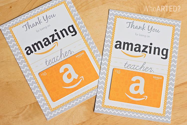 Teacher Appreciation Week Amazon Gift Card