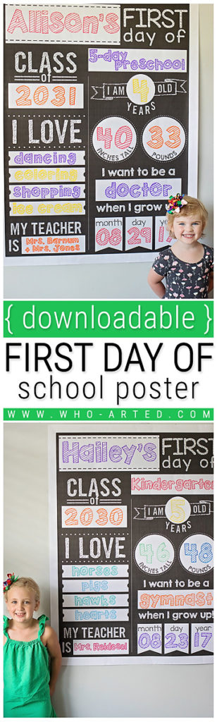 First Day of School Postera