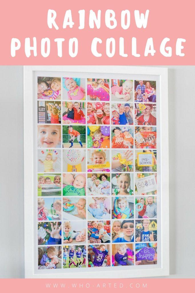 DIY Rainbow Photo Collage