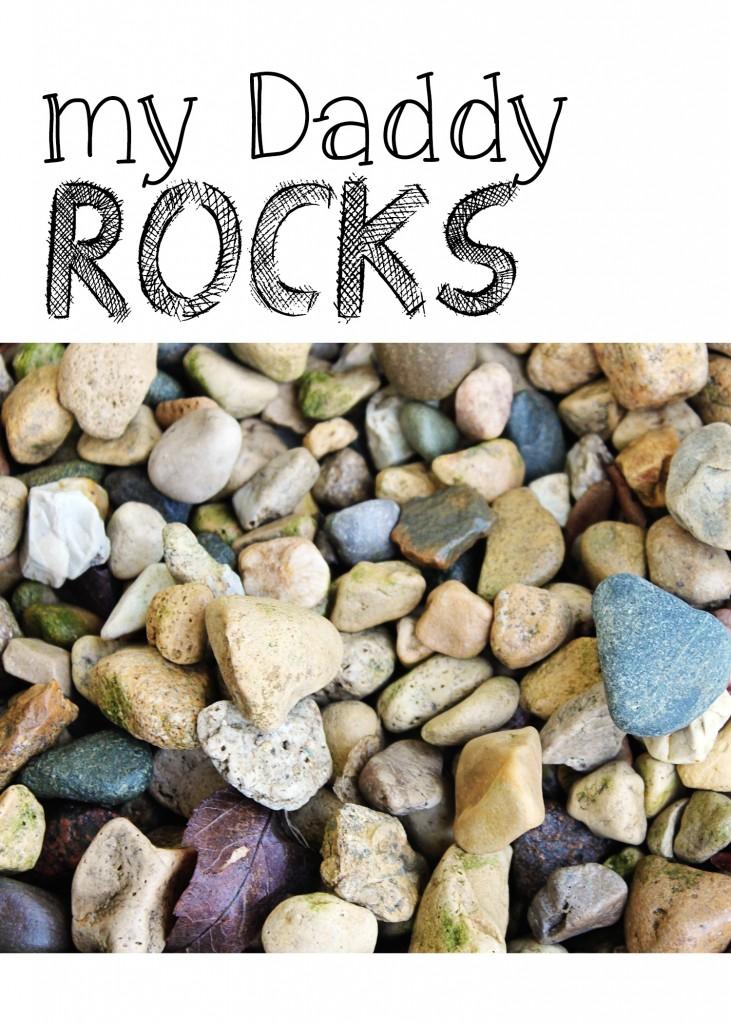 My Daddy Rocks Print 5x7